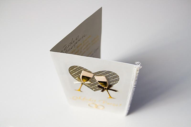 Kartka z życzeniami ślubnymi