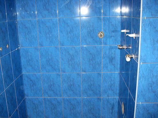 Łazienka, niebieska glazura