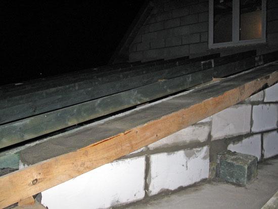 Dach garażu - belki