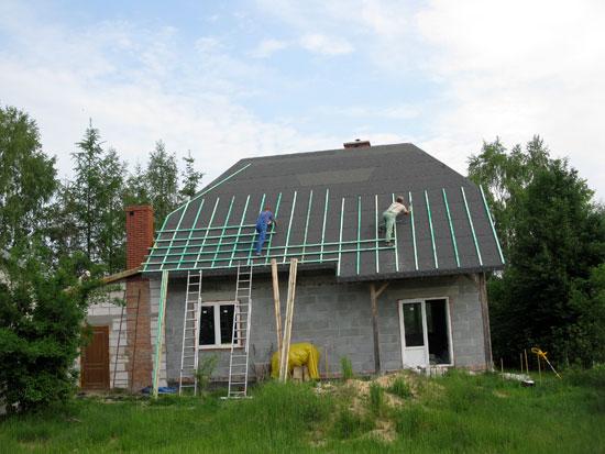 Łaty na dachu
