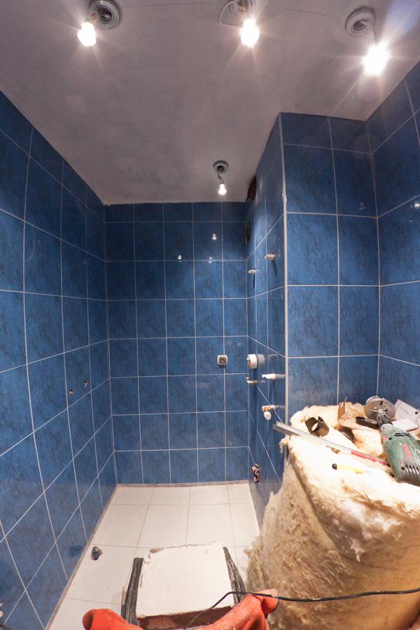 Oczka halogenowe w łazience