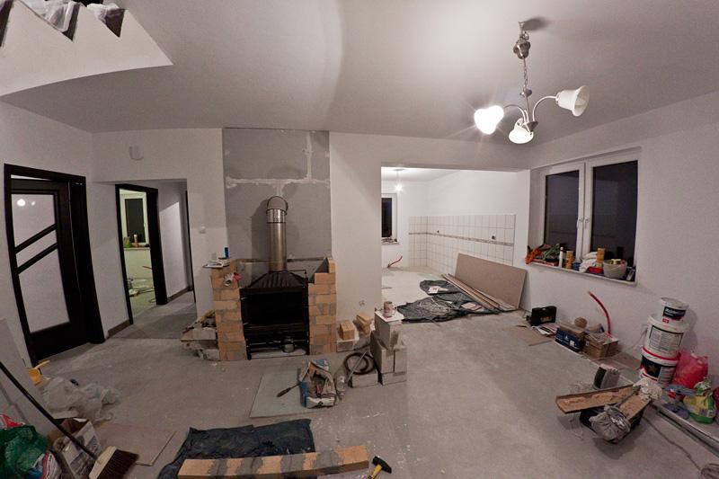 Malowanie salon z kuchnią